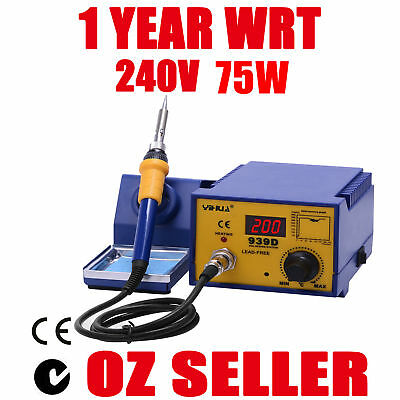 75W SOLDERING IRON STATION LEAD FREE ESD SAFE Japanese Heating Element Digital