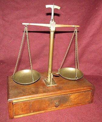 Antique Balance Scale with Weights