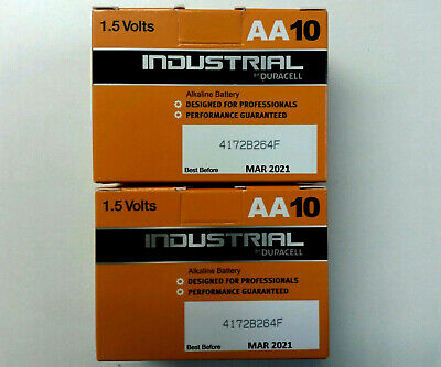 20 Duracell INDUSTRIAL AAx20 MN1500 1.5V Alkaline Professional Batteries