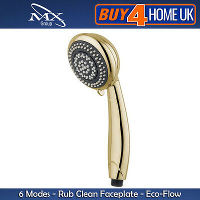 MX Gold Shower Head Handset - Synergy 6 Mode (Replaces Most Leading Brands)