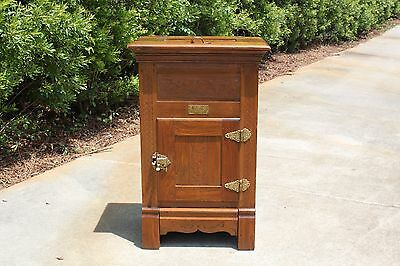 Charming Oak & Chestnut Victorian Our Favorite Ice Box Cabinet ~ Ca.1890