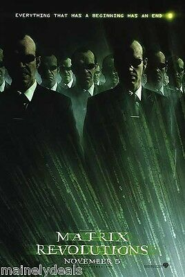 MATRIX REVOLUTIONS Original Double Sided 27x40 DS Movie Poster VER C AGENT SMITH