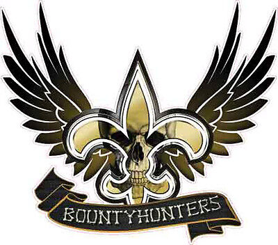 new orleans saints bounty hunter vehicle decal sticker