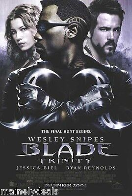 BLADE TRINITY Original Double Sided 27x40 DS Movie Poster WESLEY SNIPES