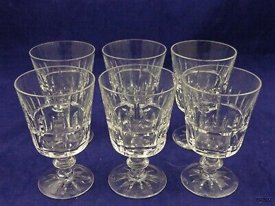 6 Small Crystal Pedestal Glasses