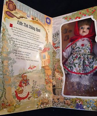 """LITTLE RED RIDING HOOD, 7-1/2"""" MARIE OSMOND STORYBOOK DOLL, HAND SIGNED, MINT"""