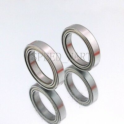 2PCS 6702ZZ Deep Groove Metal Double Shielded Ball Bearing (15mm*21mm*4mm)