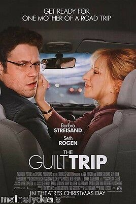 GUILT TRIP Original DOUBLE Sided 27x40 DS Movie Poster SETH ROGEN