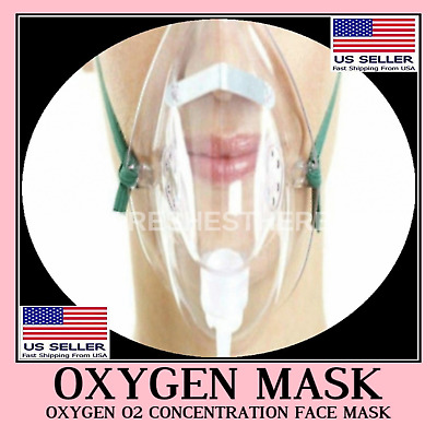 Oxygen O2 Concentration Face Mask Light Weight Medical Adjustable Breath Mouth