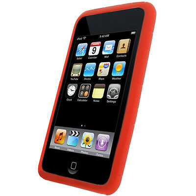 Red Silicone Case Cover Skin for iPod Touch 2G 3G