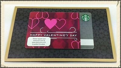 New 2014 Happy Valentine's Day Starbucks Gift Card Limited Edition
