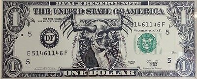 D Face - one Dollar reserve Note -  Print Druck - Limited 112/200 Rare