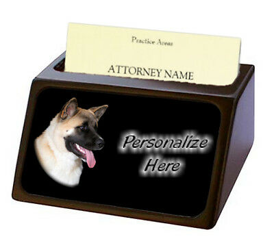 Akita ( 2 ) Pet Breed  Personalized Business Card Holder