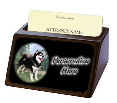 Alaskan Malamute ( 3 ) Pet Breed  Personalized Business Card Holder