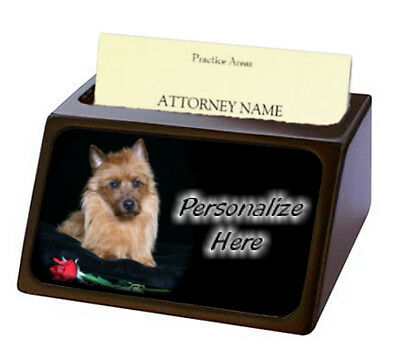 Australian Terrier ( 1 )  Pet Breed  Personalized Business Card Holder