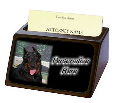 Beauceron  Pet Breed  Personalized Business Card Holder