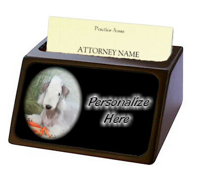 Bedlington Terrier  Pet Breed  Personalized Business Card Holder