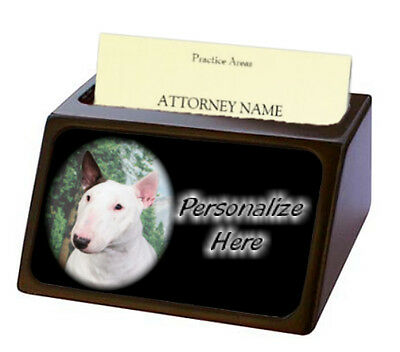 Bull Terrier ( 2 )  Pet Breed  Personalized Business Card Holder