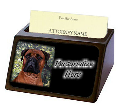 Bullmastiff   red  Pet Breed  Personalized Business Card Holder