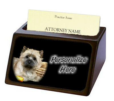 Cairn Terrier ( 1 )  Pet Breed  Personalized Business Card Holder