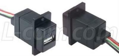 89M9526 L-Com Ecj504B-Ua I/O Connector, Usb A, Jack, 4Pos, 10In Wire Leads