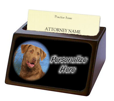 Chesapeake Bay Retriever  Pet Breed  Personalized Business Card Holder