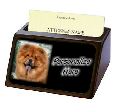 Chow Chow   red   Pet Breed  Personalized Business Card Holder
