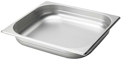 Gastronorm Container Pans 1/2  Half Size Stainless Steel