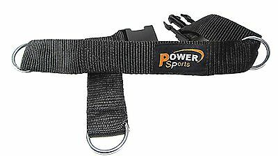 Gym Machine Cable Attachment 3-Ring Foot/Ankle Strap Nylon