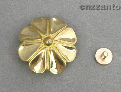 Solid Brass Petals Leathercraft rivet stud Punk screw back Conchos Belt  Z051