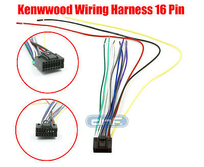 kenwood wire wiring harness 16 pin cd radio stereo • 3 98 picclick kenwood wiring harness 16 pin kdc 4022 kdc 5090r kdc 5019 ships