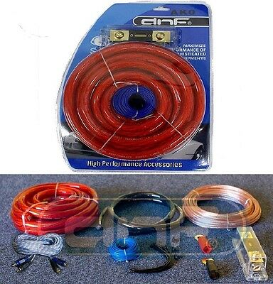 0 Gauge Amp Kit Complete Amplifier Wiring Install Speaker Wire Kit 6000W