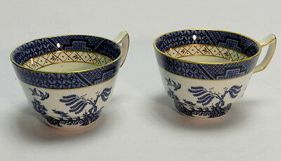 Booths 'Real Old Willow' A 8025 pattern pair of tea cups - GA 442 - 3SB