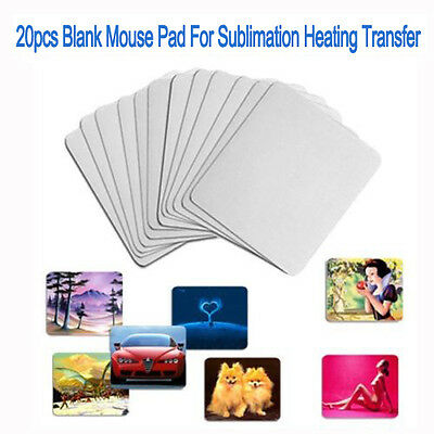 20 pcs Blank Mouse Pad Heating Transfer Sublimation Mouse Pad