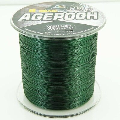 8Strands Moss Green 20LB-100LB Agepoch Super Strong Dyneema Braided Fishing Line