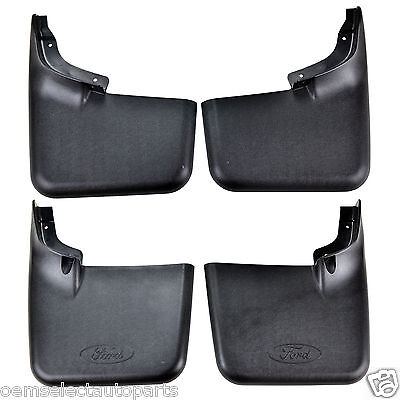 NEW OEM 04-14 Ford F-150 Front and Rear Mud Flaps SET Splash Guards w/o Flares
