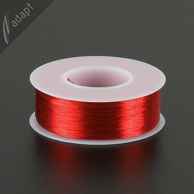 33 AWG Gauge Magnet Wire Red 1550' 155C Solderable Enameled Copper Coil Winding