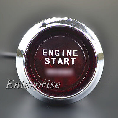Auto Car Engine Start Push Button Red LED Switch Ignition Starter Set Universal