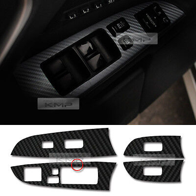 Interior Window Switch Carbon Black Decal Sticker 4Pcs For LEXUS 06-13 IS250 300