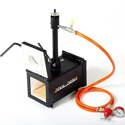 DFPROF1+2D GAS PROPANE FORGE Furnace Burner Knife Making Blacksmith Farrier