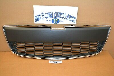 Chevrolet Sonic Front Black Lower GRILLE w/ Chrome Trim new OEM 95227395