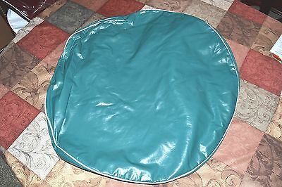 "Spare Tire Cover Green CamperTrailer RV Fits Tires 25"" New old stock"