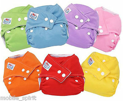 10pcs/Pack Adjustable Washable Reusable Baby Cloth Diaper Nappy with 10 Inserts