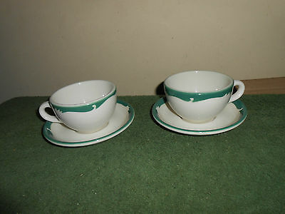 Lot 2 Vtg Sets Wintergreen/crest Restaurant Ware Cups & Saucers Syracuse China