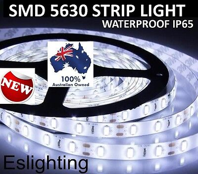 5M Flexible Bright Led Strip Lights 12V Waterproof 5630 Smd Cool White 300 Leds