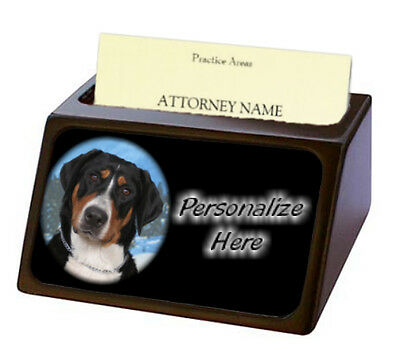 Greater Swiss Mountain Dog   ( 2 )  Pet Breed  Personalized Business Card Holder