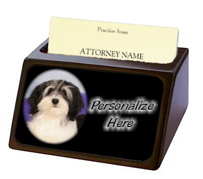 Havanese   ( 2 )  Pet Breed  Personalized Business Card Holder