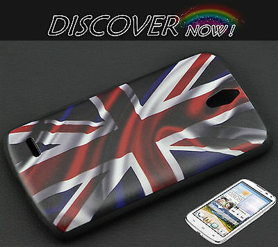 COVER CUSTODIA CASE RIGIDA PER HUAWEI ASCEND G610 BANDIERA INGLESE VINTAGE UK