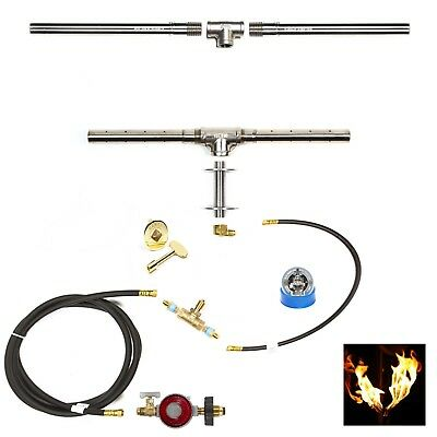 "TB98CK+: 98"" Trough Burner SS316 Complete Deluxe DIY Fire Table/ Fire Wall Kit"