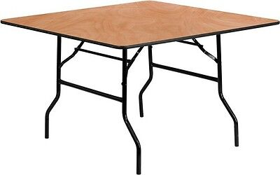"""48""""  Square Wood Folding Banquet Dining Table"""